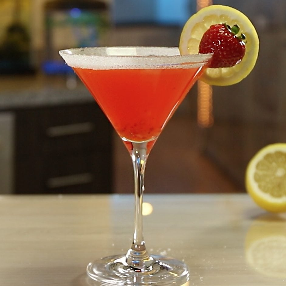 Strawberry Lemon Drop Martini